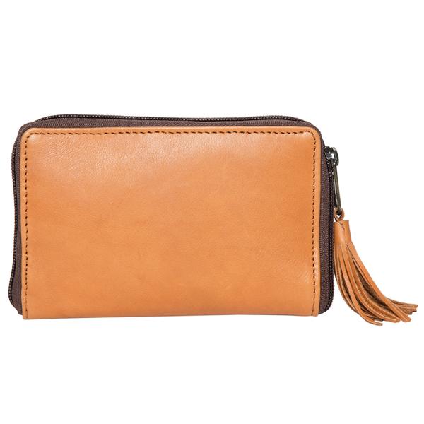 Charlotte Tan White Cowhide Wallet Back