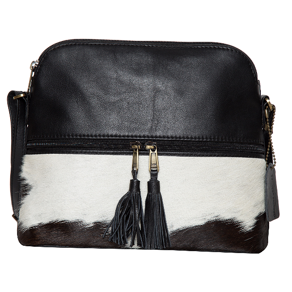 Finland Black White Cowhide Bag