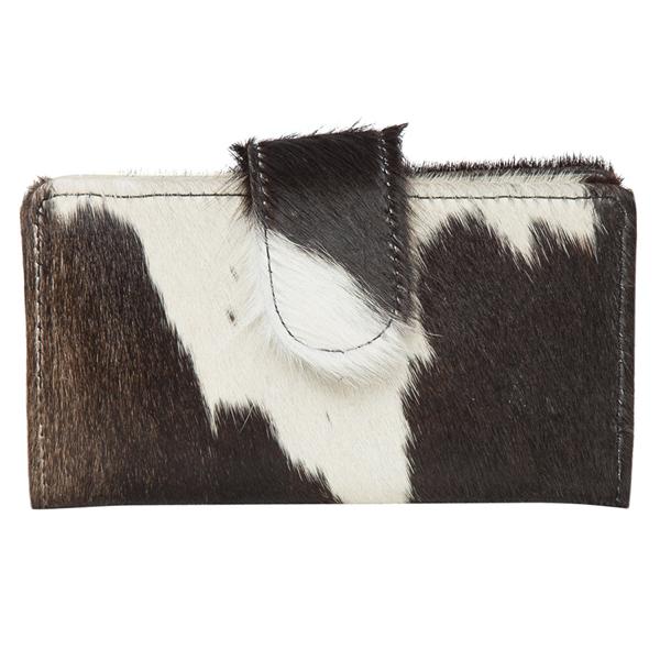 Vermont Dark Black White Cowhide Wallet