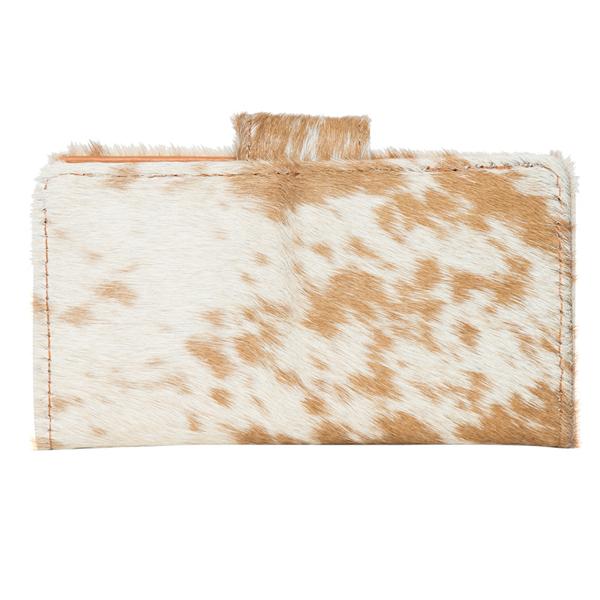 Vermont Light Tan White Cowhide Wallet Back