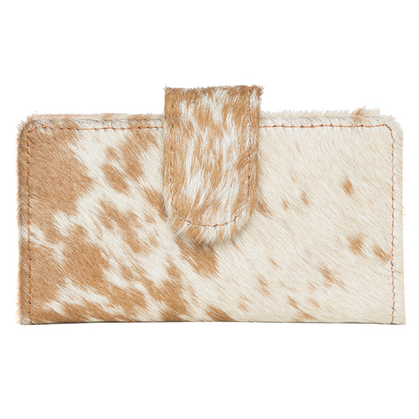 Vermont Light Tan White Cowhide Wallet