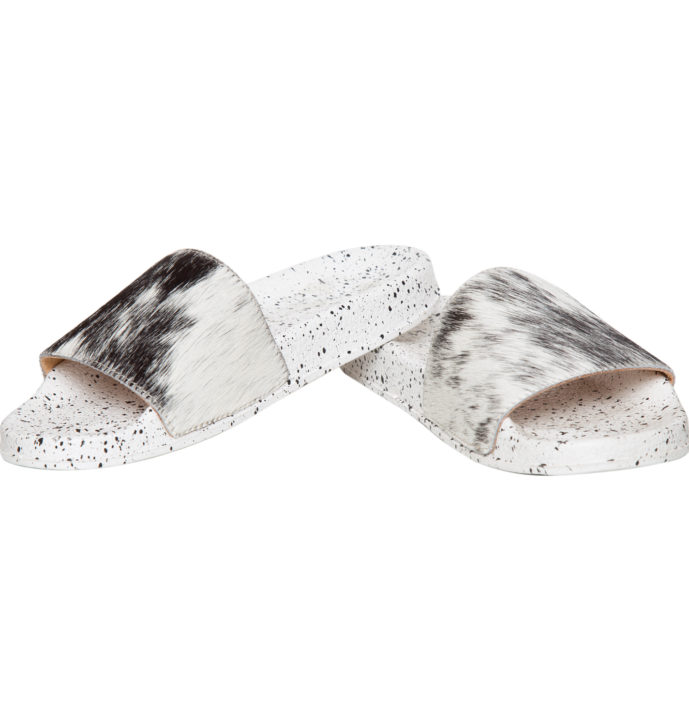 Hairon Slippers Cowhide Footwear (Shoe59 – Min 6pcs – Assorted Sizes)