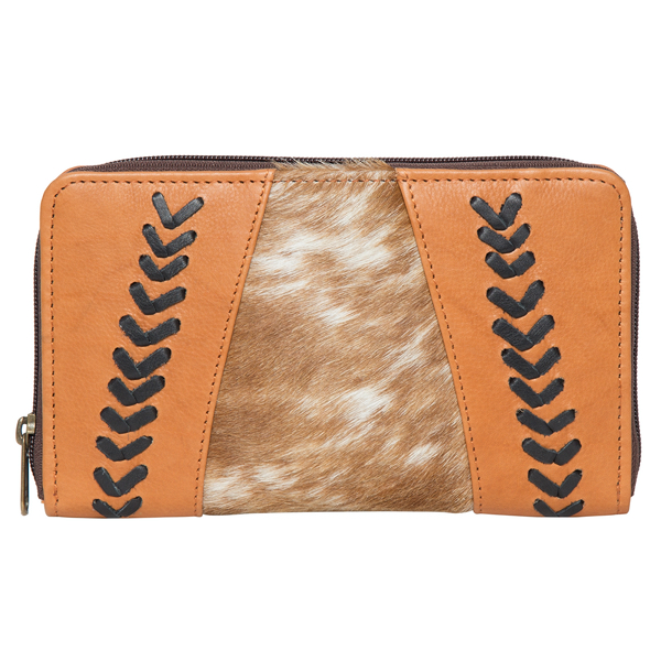 Albania Tan White Cowhide Wallet