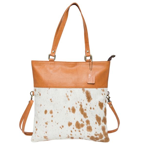 Foldover Cowhide Bag – Istanbul (B71022)