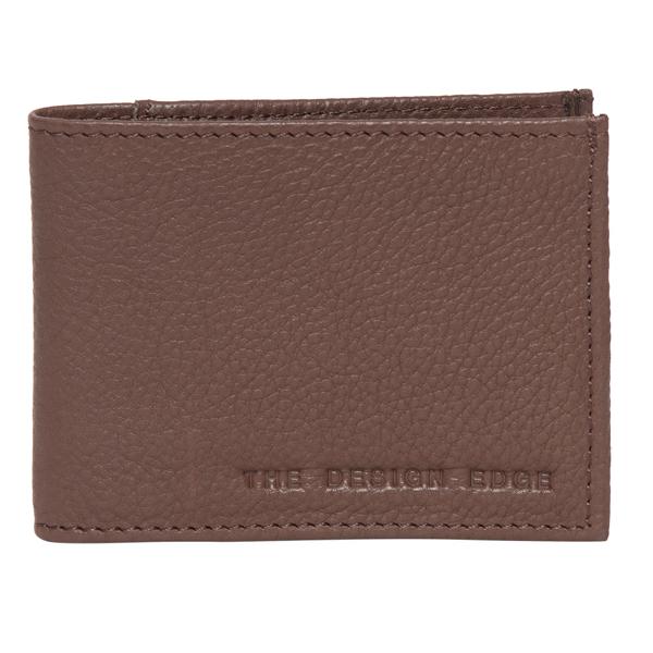 71039 Brown Grain Leather Mens Wallet