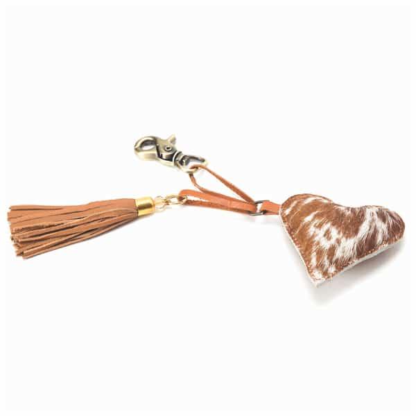 BC Heart – Cowhide Bag Charm (Min 3pcs / per color)