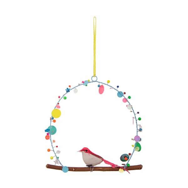 Bird Hanging with Multicolor Beads Home Decorative – BH2802 (Min 2pcs)