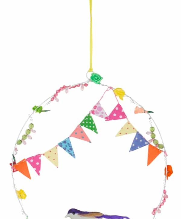 Bird Hanging with Bunting Home Decorative – BH2804 (Min 2pcs)