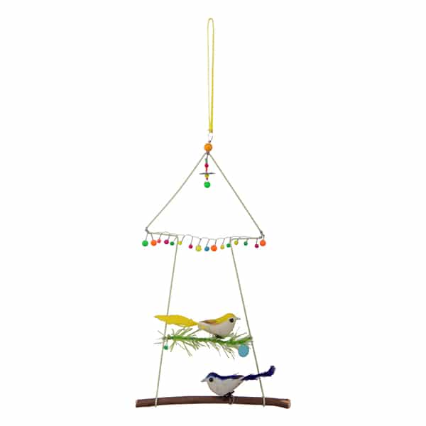 2 Bird Hanging with Grass Home Decorative – BH2806 (Min 2pcs)