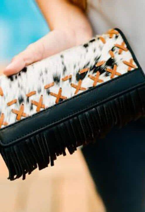 Handcrafted Boho Cowhide Wallet – Vegas Boho (L69933E)