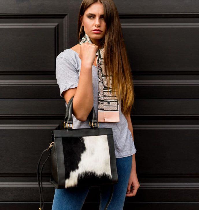 Ladies Cowhide Bag – Greece (B70068)