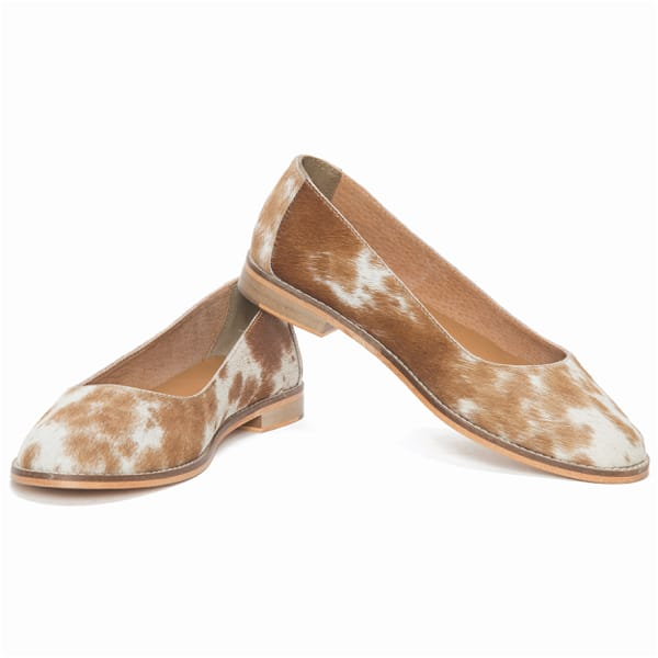 Hairon Ballerina Cowhide Footwear (Shoe28 – Min 6pcs – Assorted Sizes)