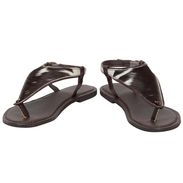 Hairon T Sandals Cowhide Footwear (Shoe07 – Min 3pcs – Assorted Sizes)