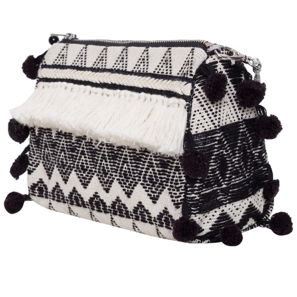 B/W Kantha Cosmetic Small Pouch – IP743