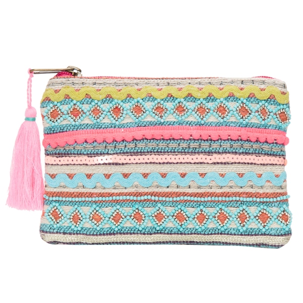 Jacquard Hand Beaded Pouch – CP047 (Buy 1 Get 1 Free!!)