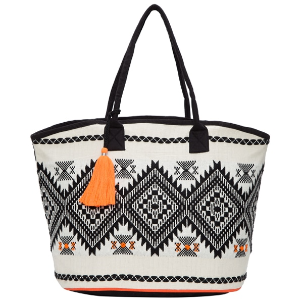 Jacquard Hand Beaded Shopper Bag – SB566
