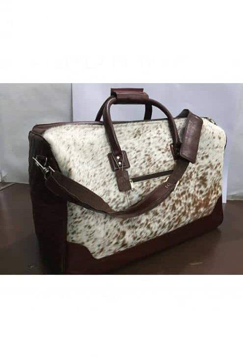 Large Cowhide Travel Bag – Antartica (B69906)