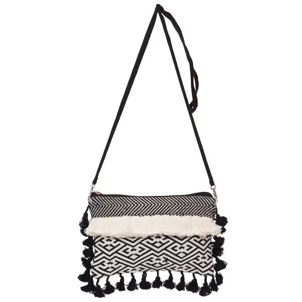 B/W Small Bag with Tassels – SB03