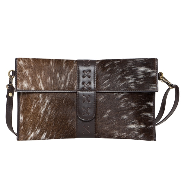 Boho Flap Cowhide Clutch Bag – Split (B71027)