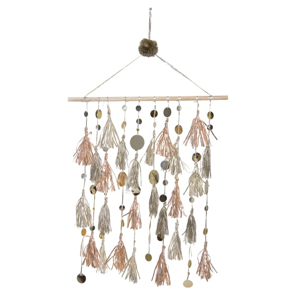 Gold Tassels Wall Hanging – Home Decorative – WH3105