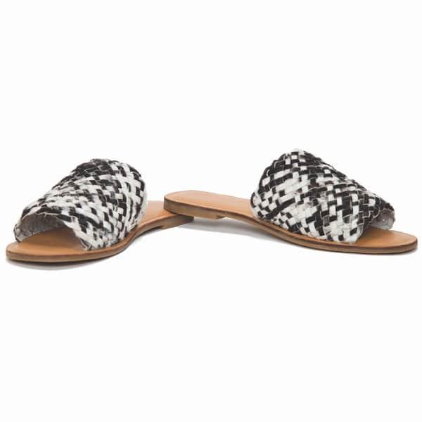 Woven Hairon Slides Cowhide Footwear (Shoe29 – Min 6pcs – Assorted Sizes)