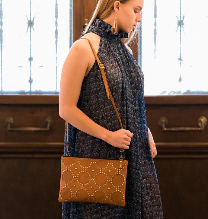 Medium Sling Bag With Studs – CALGARY (B70095)