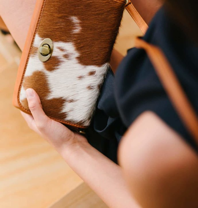 Small Flap Cowhide Bag- Italy (B70083)