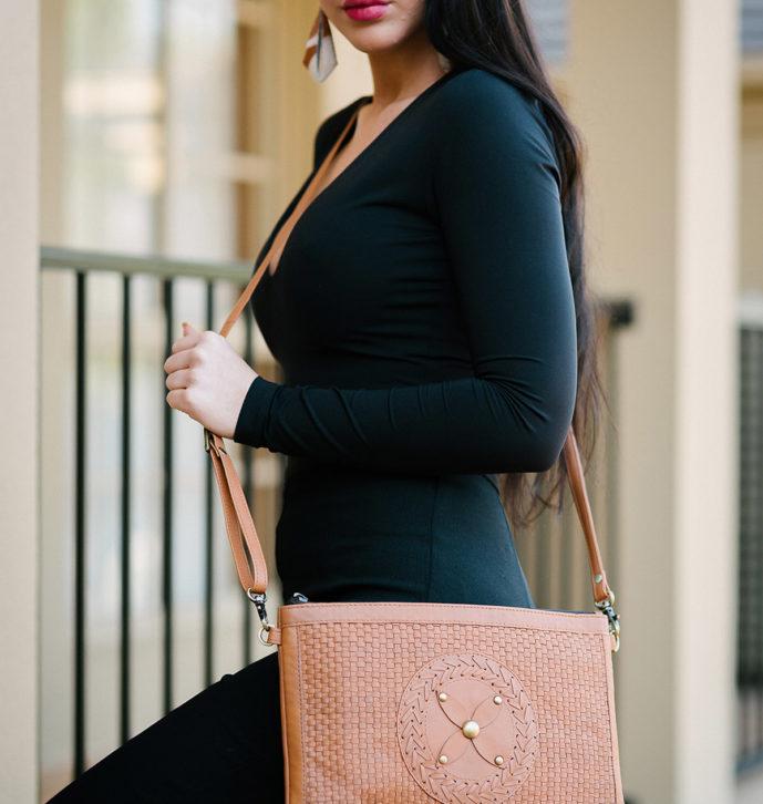 Woven Medium Boho Sling Bag – QUEBEC (W70086)