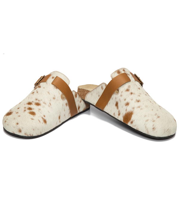 Hairon Monk Slippers Cowhide Footwear (Shoe56 – Min 6pcs)