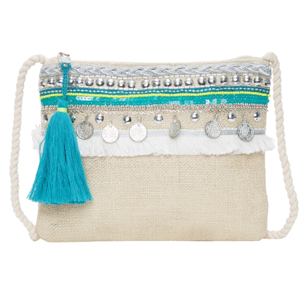Lurex Jute Hand Beaded Sling Bag – SLB187