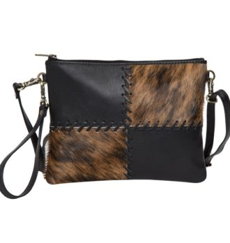 Lisbon black leather brindle cowhide clutch bag 2 330x348 Home Modern