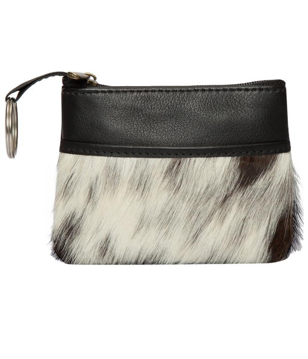 Card and Change Cowhide Purse – Peru (71045)