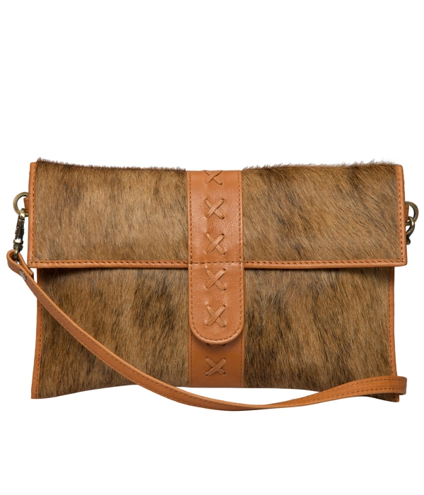 Brindle Cowhide Boho Flap Clutch Bag – Split (B71027)
