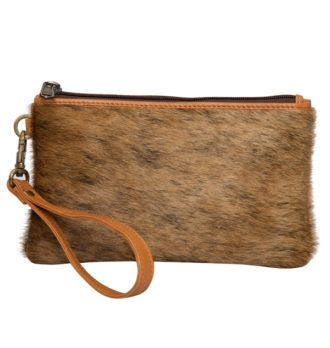 Toronto Brindle hairon tan leather Clutch 330x348 Home Modern