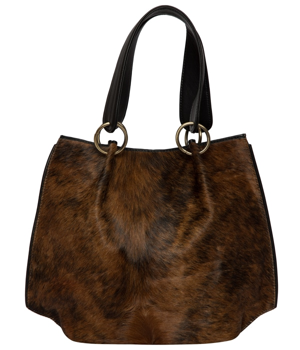 Brindle Cowhide Bucket Bag – Victoria (B71020)