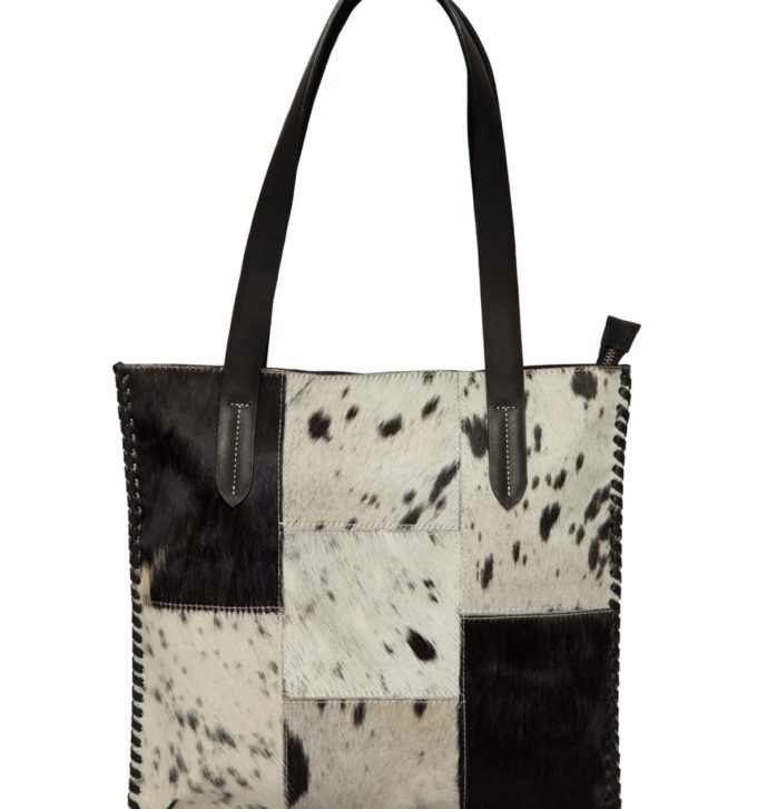 Patched Hairon Tote – FLA01