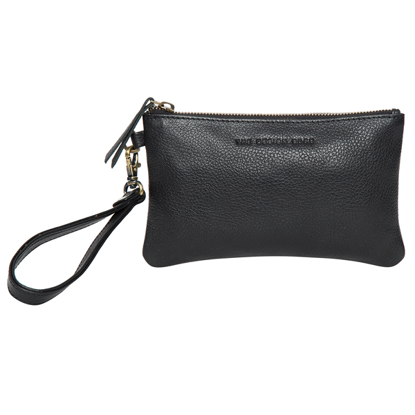 Toronto Black Grain Leather Clutch