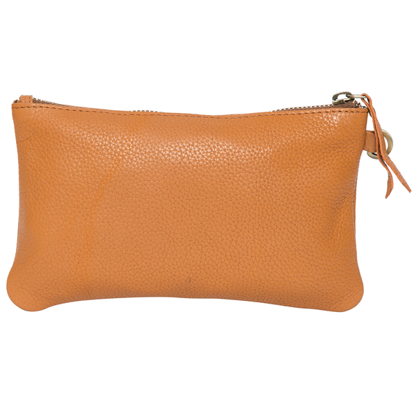 Toronto Tan Grain Leather Clutch Back