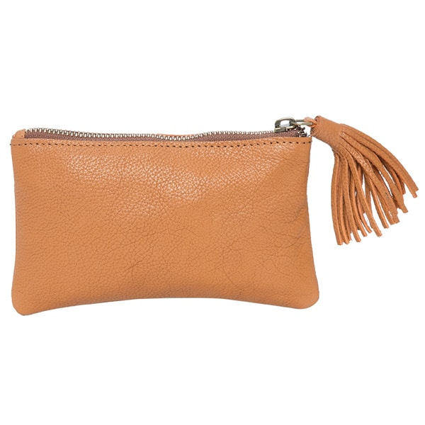 Grain Leather Small Tassel Cowhide Clutch – York (71015)