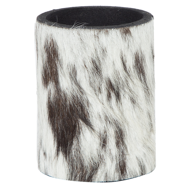 Sh01 Black White Cowhide Stubbie Holder