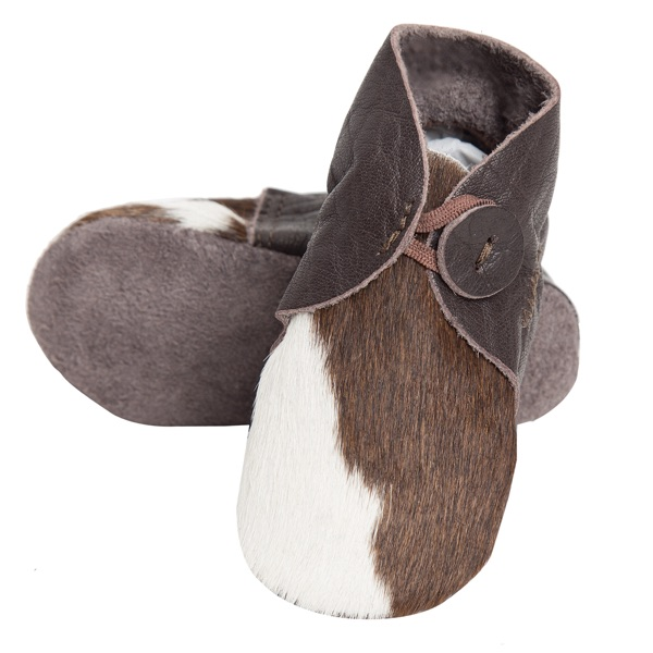 Booties Brown White Cowhide Baby Boots 1