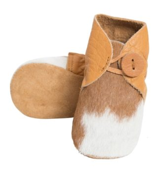 Booties tan white cowhide baby boots 1 330x348 Home Modern