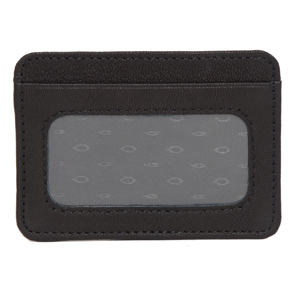 Ca01 Black White Cowhide Cardcase Back