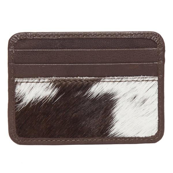 Ca01 Brown White Cowhide Cardcase