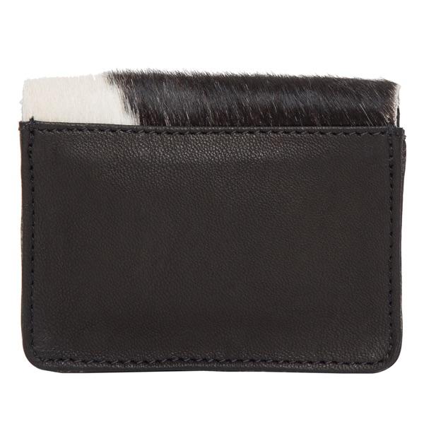 Ca02 Black White Cowhide Cardcase Back