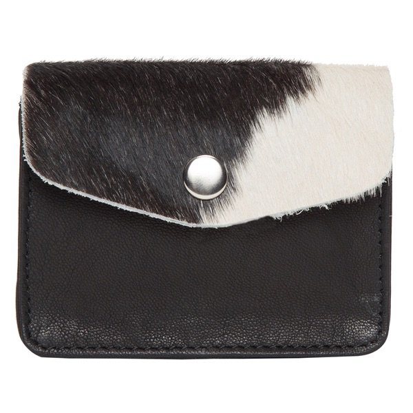 Ca02 Black White Cowhide Cardcase