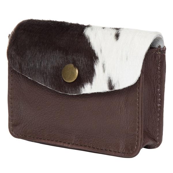 Ca02 Brown White Cowhide Cardcase Side