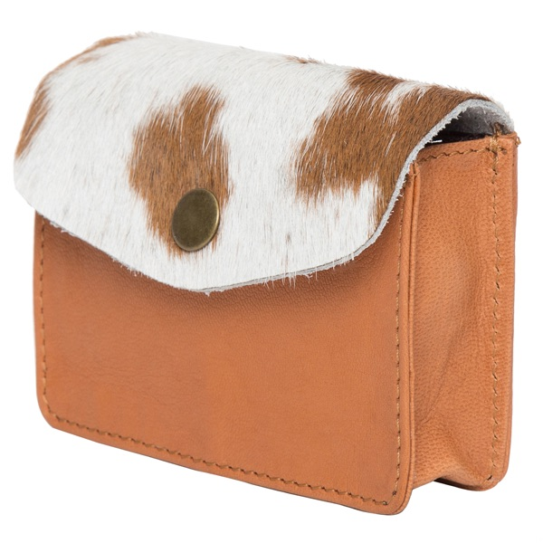 Ca02 Tan White Cowhide Cardcase Side