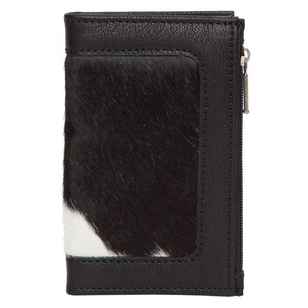 Ca03 Black White Cowhide Wallet