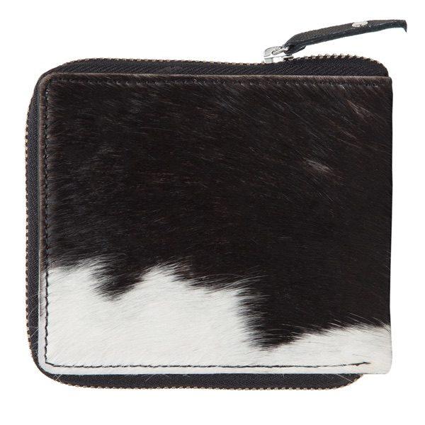 Ca04 Black White Cowhide Wallet